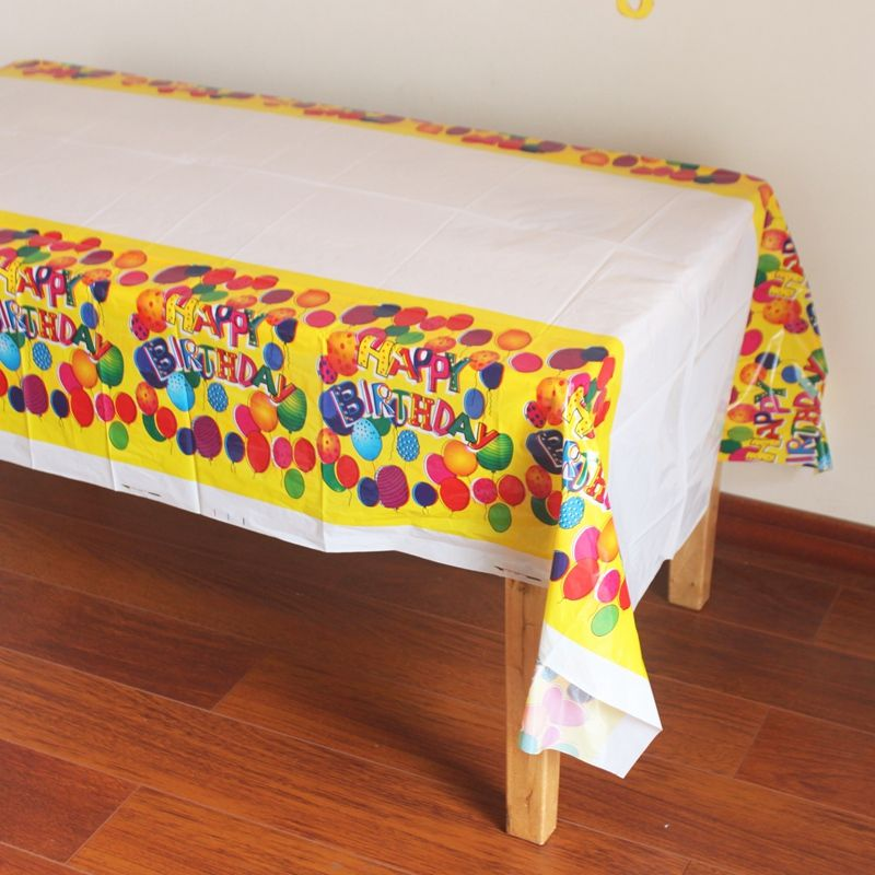disposable plastic table cloth table cover tablecloth waterproof for