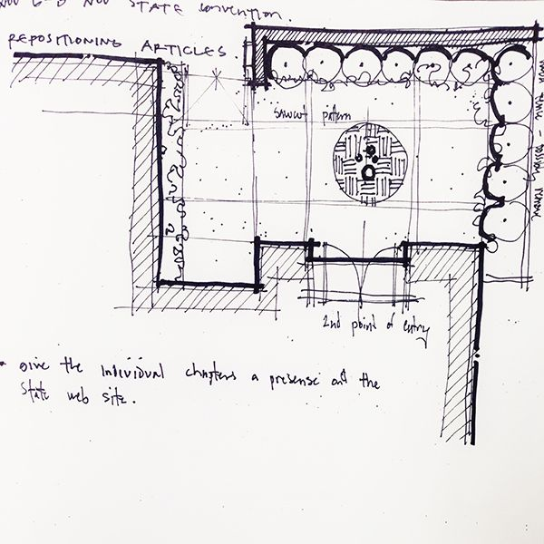Architectural Sketch Partial Site Plan Line Weight Arquitectura
