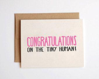New baby card congrats on the tiny human new baby greeting new baby card congrats on the tiny human new baby greeting card m4hsunfo