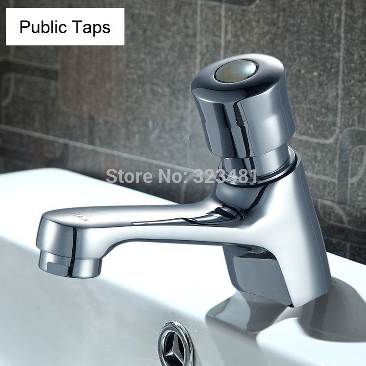 Brass Time Delay Faucet Touch Press Auto Self Closing cold Water ...