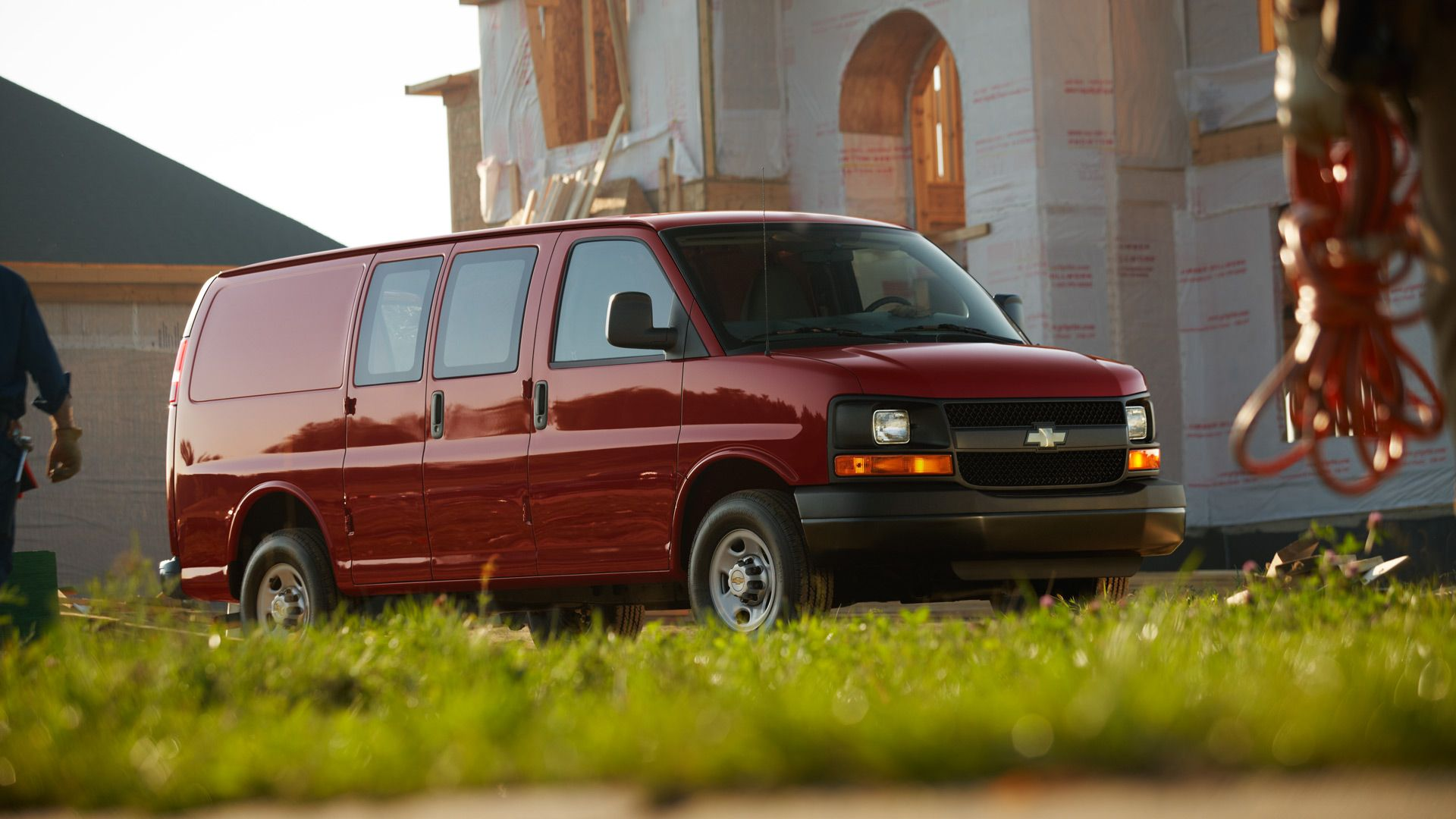 Profile view of the Chevrolet Express 2500 Cargo Van in