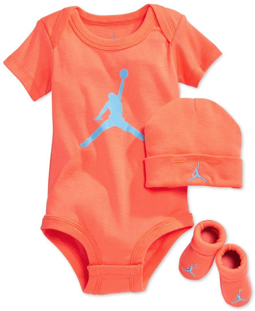 Jordan Baby Boys' Three-Piece Jordan Jumpman Set - Baby Girl Jordans Shoes - Google Search Baby Girls Outfits