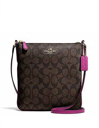 c5721d3f101f Coach North South Crossbody In Signature Coated Canvas in 2019 ...
