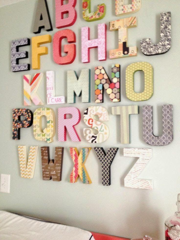 4 ideas para decorar con letras tu hogar deco hogar - Letras bebe decoracion ...
