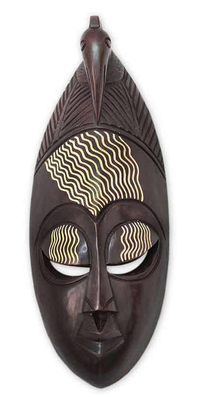 Ghanaian Wood Mask Our Heritage African Wood Mask African Sculptures Masks Art African Masks