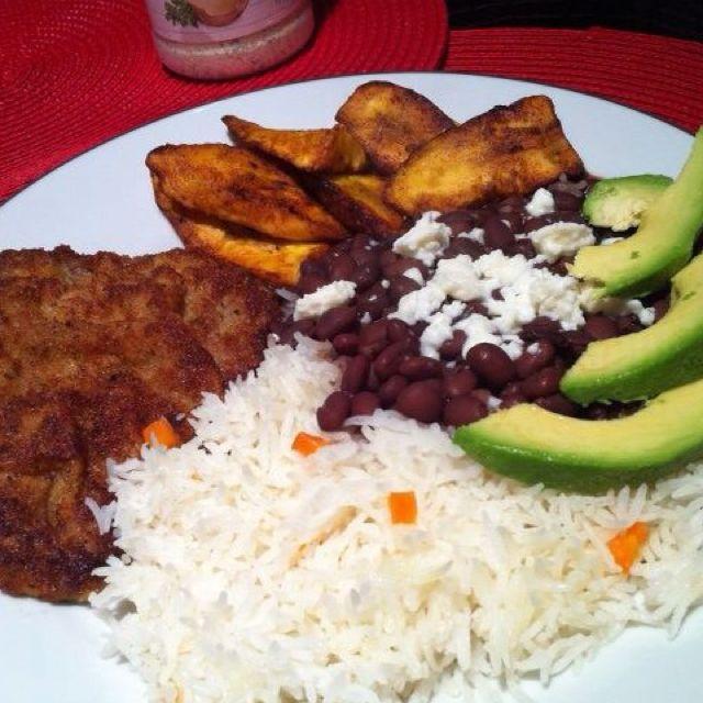 Venezuelan Dish. Rice, Shredded Beef