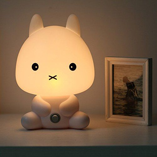 Amazon Com Coffled Baby Kids Bedroom Led Rabbit Night Light Bunny Cartoon Animal Desk Table Lamp Gift Baby Animal Baby Room Animal Night Light Bed Lamp