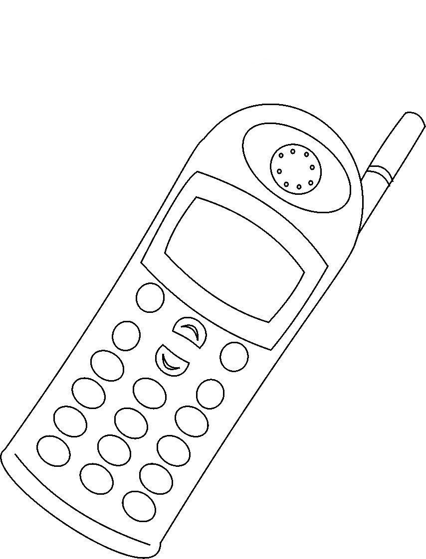 Dibujos Para Colorear Telefono Jpg 854 1122 Alat Komunikasi Lembar Kerja Anak