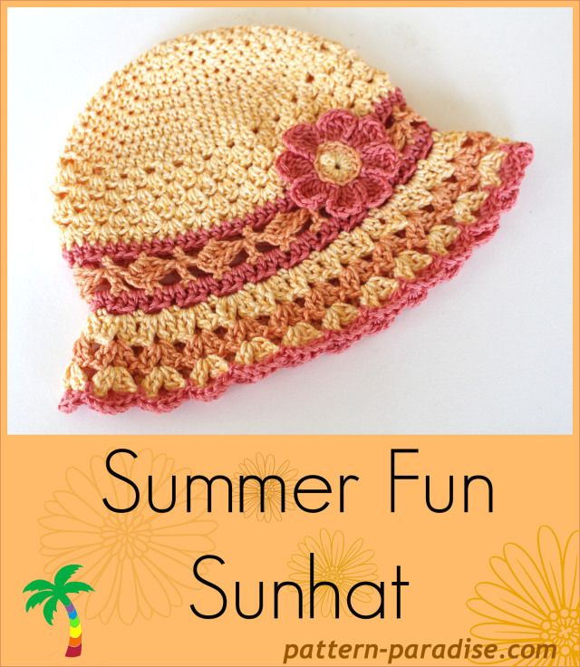 Summer Fun Sun Hat | Free crochet pattern from Pattern Paradise ...
