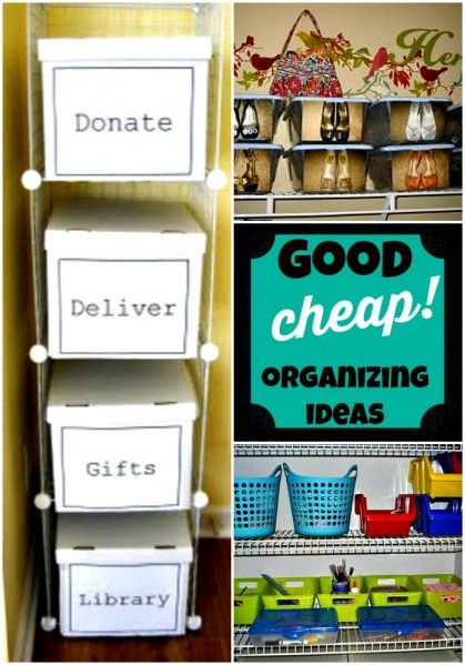 Good and cheap organizing ideas from Cheap and easy organizing ideas