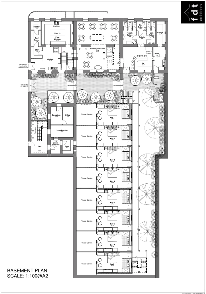 St Helena Hotel Development: floor plan