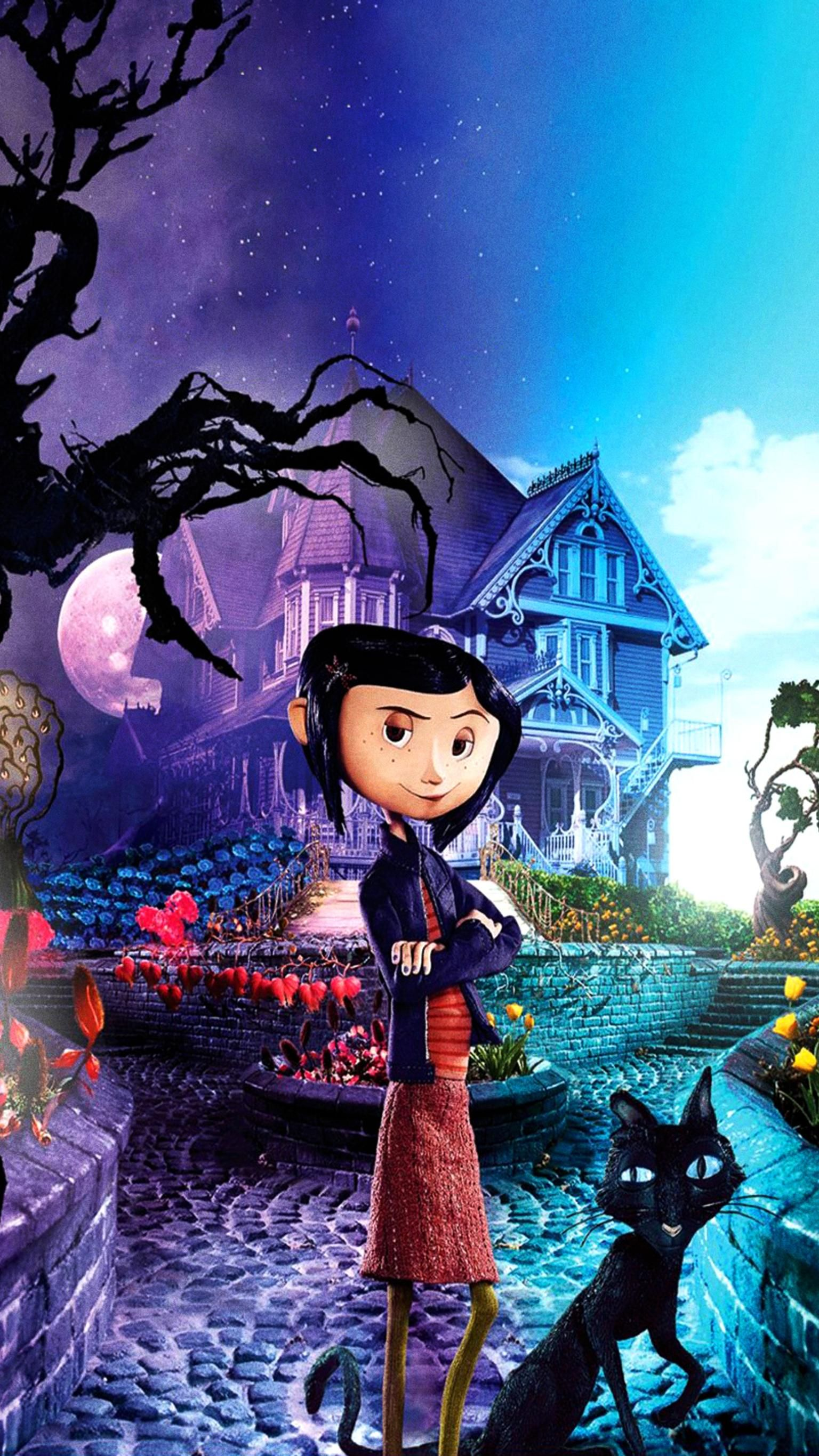 Coraline (2009) Phone Wallpaper | Moviemania | Coraline, Coraline jones,  Coraline art