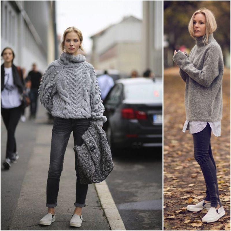 TRICÔ ESPORTE >>> Os tricôs combinados com jeans e tênis deixam o look mais esporte e super confortáveis.