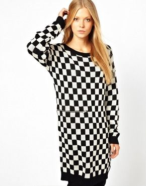 big clearance sale quality products best price Monki Black & White Check Jumper Dress | Wish List | Jumper ...