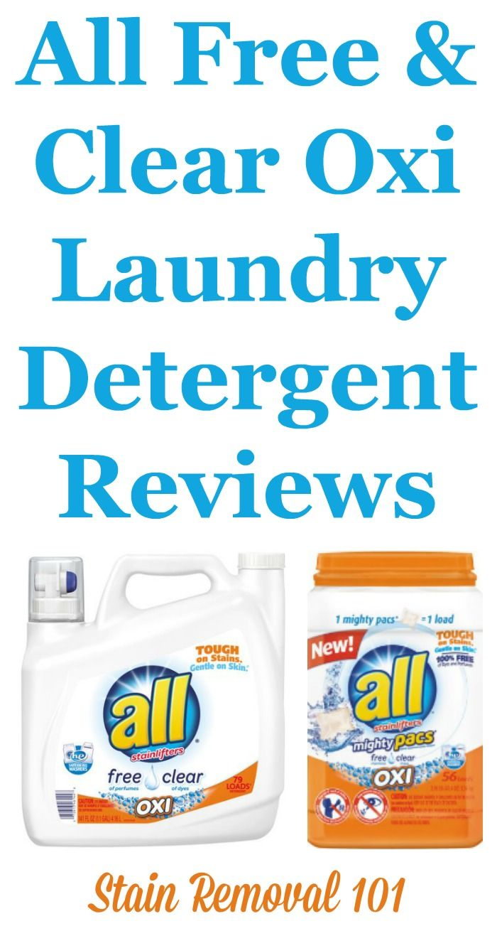 All Free And Clear Oxi Active Detergent Reviews Causes Allergic