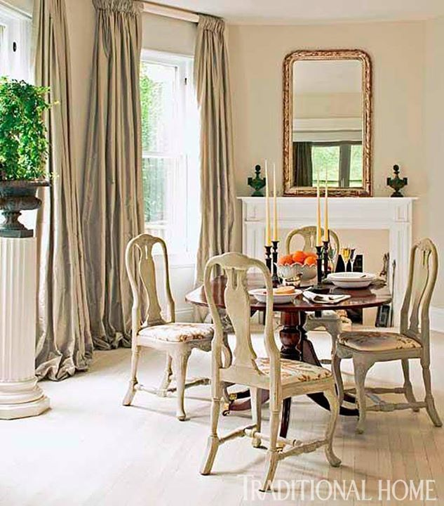 A Lighter Shade Of Pale Dining Room Curtains