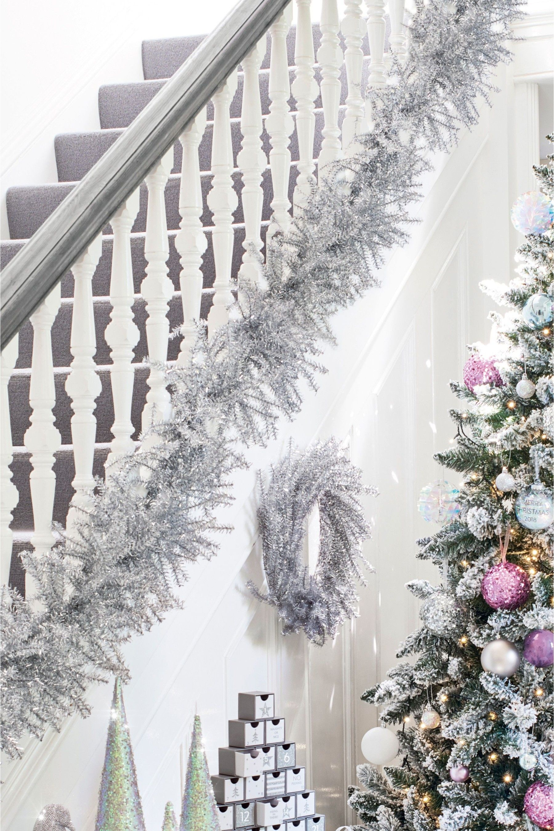 Buy Silver Tinsel Garland From The Next Uk Online Shop Christmas Trees Uk Christmas Tinsel Silver Christmas Tree