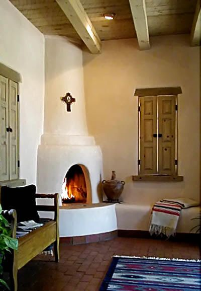 Kiva Brick Molding Along Floor Spanish Style Homes Corner