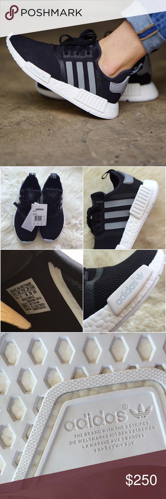 Adidas NMD R1 Black Mesh Sneakers