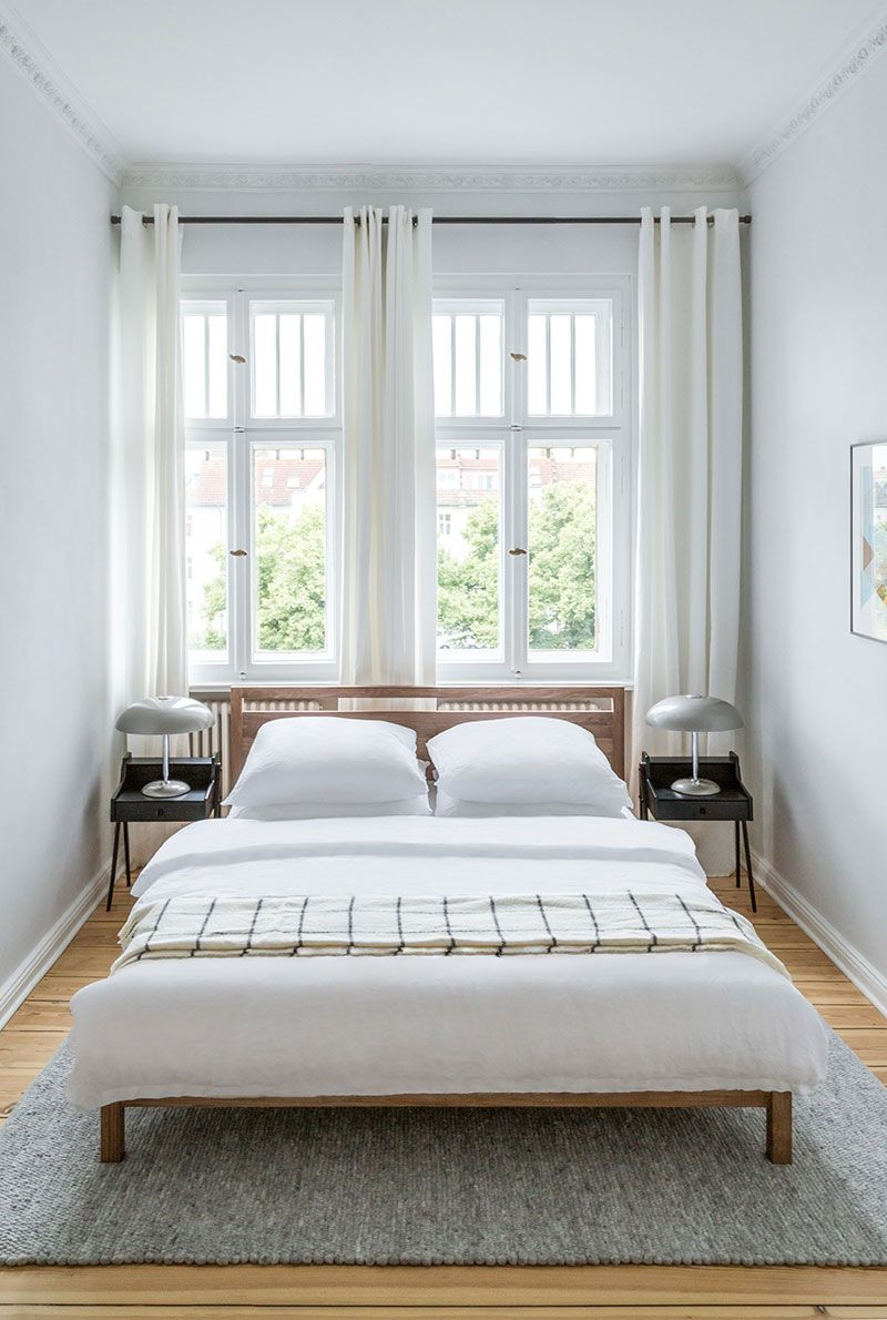 Bright And Harmonious Modern Apartment In A Pre War House In Berlin Photos Ideas Design Small Guest Bedroom Minimalist Bedroom Design Simple Bedroom