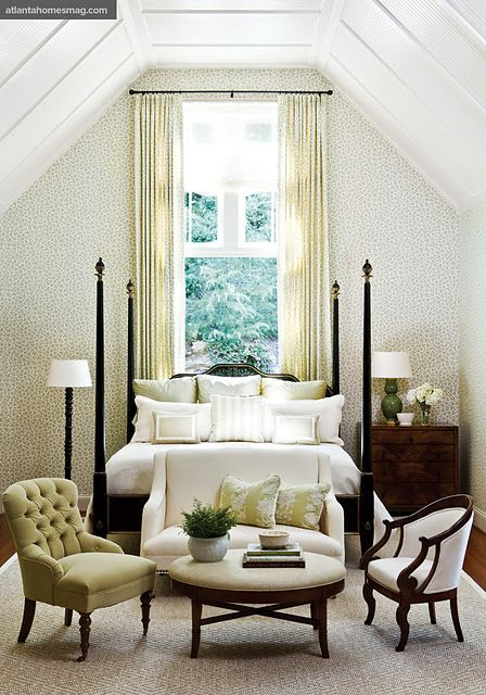 Another beautiful soothing bedroom. Not necessarily a dream room, but gotta love that ceiling!