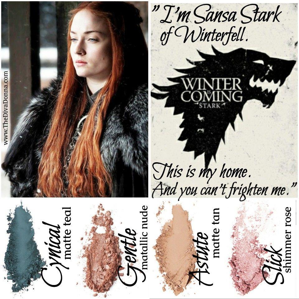 Younique Moodstruckpressedshadows Game Of Thrones Sansa Stark Cynical Gentle Astute Slick Www Thedivadonn Younique Makeup Younique Beauty Sansa Stark Eyes