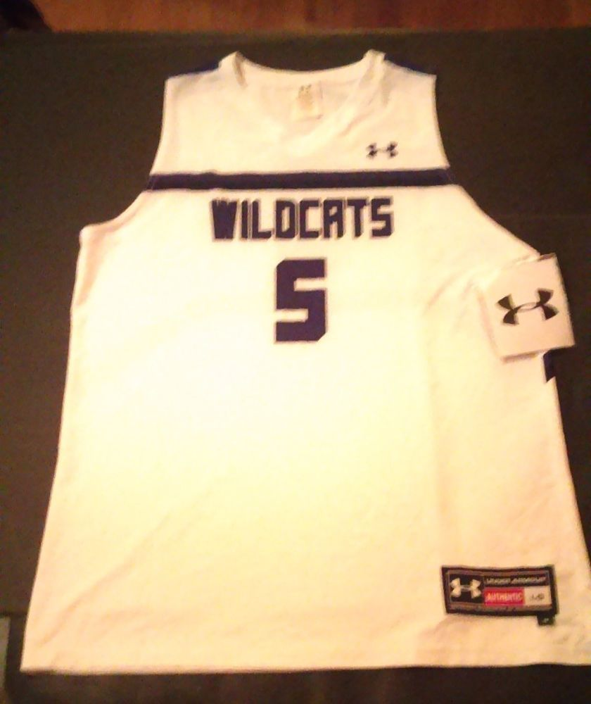 more photos b5587 e9429 $10 Under Armour Northwestern Wildcats Basketball Jersey #5 ...