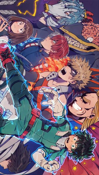 My Hero Academia Characters 4k Hd Mobile Smartphone And Pc Desktop Laptop Wallpaper 3840x2160 1920x1080 2160x3840 1080x1920 My Hero Hero Hero Wallpaper