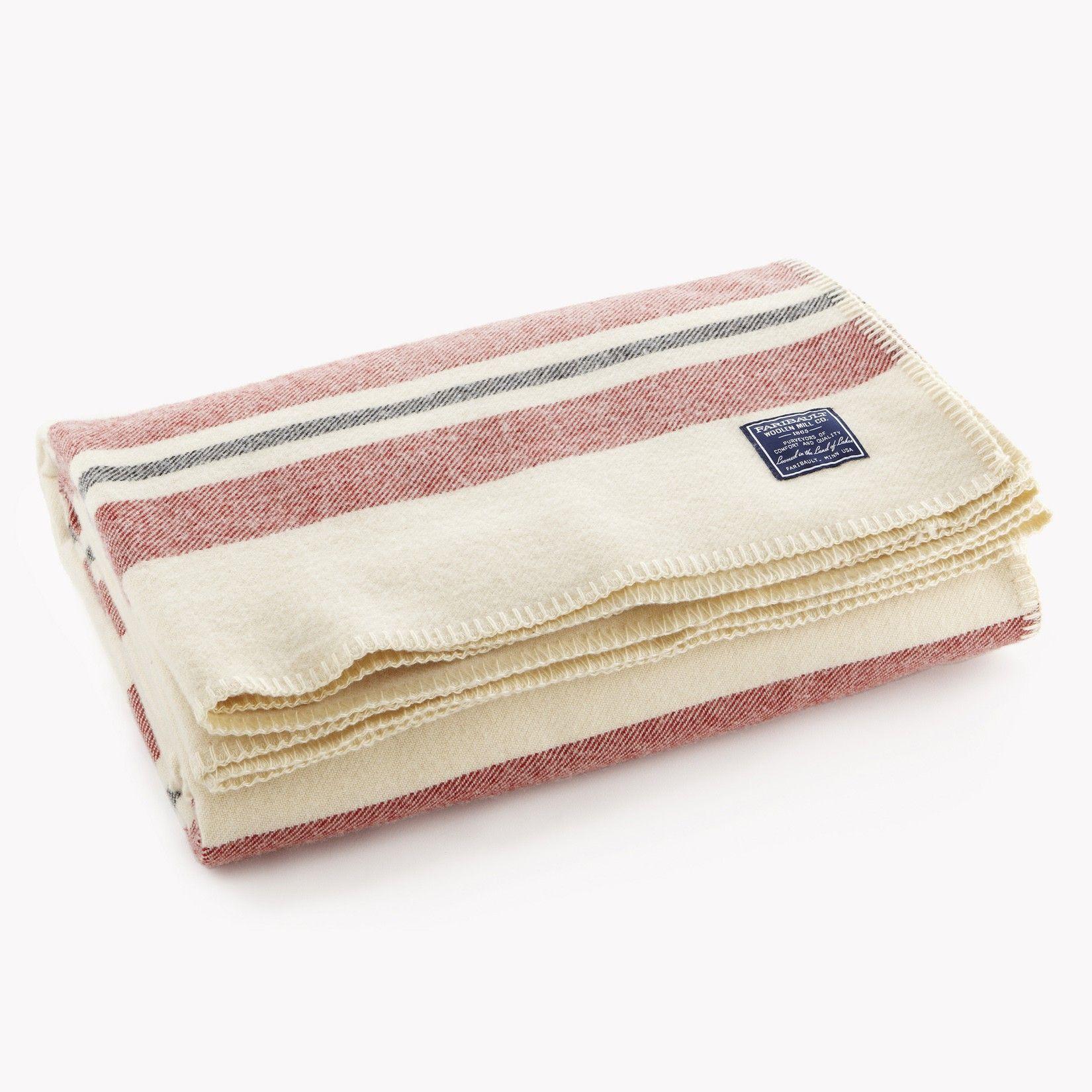 Cabin wool blanket from faribault mill twin blanket
