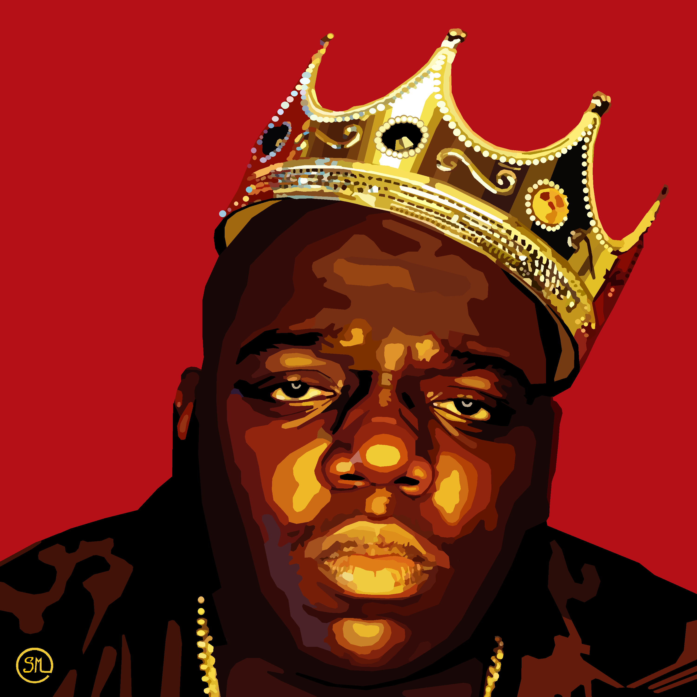 King Of New York Canvas Print Notoriousbig Notorious Biggie Kingofnewyork Seans Portraits Ripbiggie Hiphop Rap Gangs New York Canvas Biggie Remix
