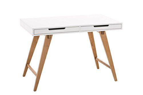 Clp table de bureau porto en mdf 3 bois de chêne avec tiroirs