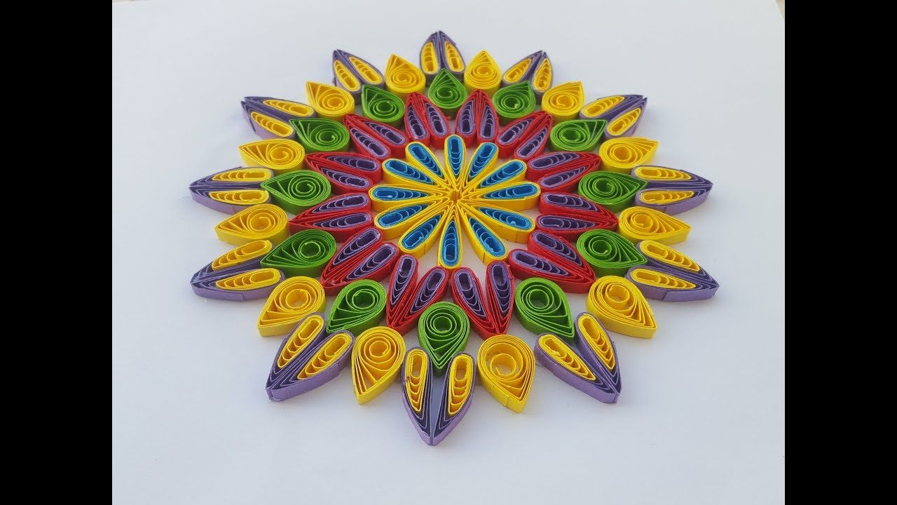 How To Make Paper Quilling Flowers Using A Hair Comb By Art Life