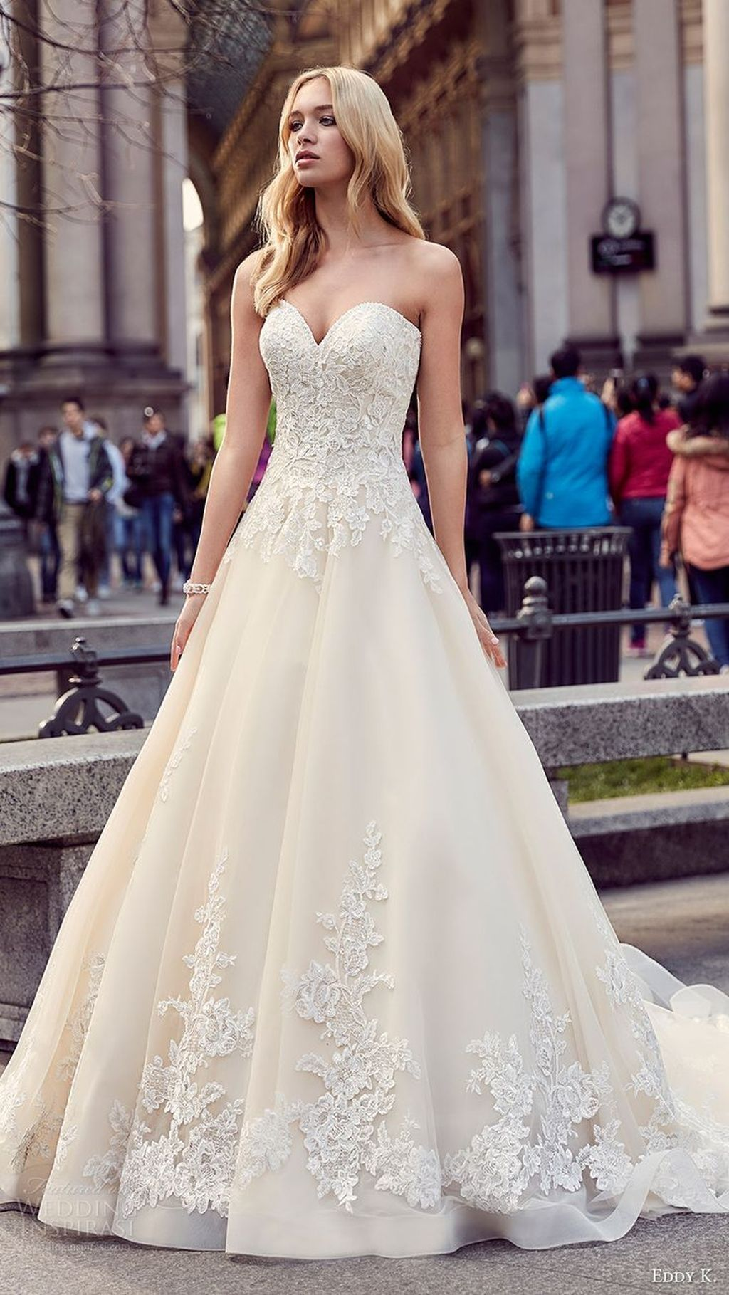 Sweetheart strapless wedding dress   Simple but Beautiful Strapless Wedding Gown Ideas Trends