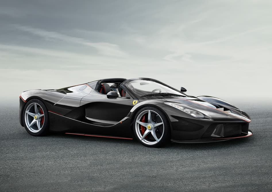 Ferrari has now released images of a new soft-top version of its hybrid hypercar. The convertible LaFerrari will be available with a carbon-fiber hard-top and a soft-top and that it retains the 800-hp V12 engine and the 120-kW (161-hp) electric motor of the original version. The performance figures, too, remain unchanged, with a total system output of 963 hp (718 kW).