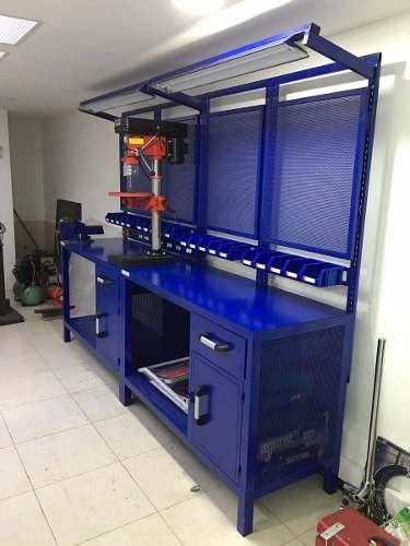 Mesa banco de trabajo para taller de motos mesa de for Mesas de trabajo para taller
