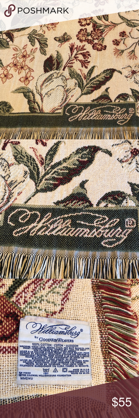 Williamsburg Woven Cotton Blanket Goodwin Weavers This Lovely