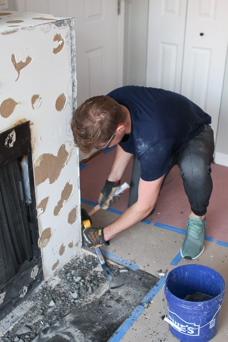 how to remove a fireplace mantel and surround