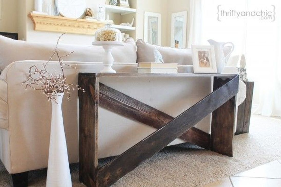 20+ Creative DIY And Cheap Sofa Table Design Ideas   Farm/country ...