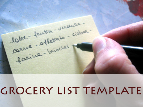 grocery list template  Create your personal printable grocery list and save both time and dibs. When you've a master grocery list produced with your private shopping predilection and staples, this clear the need to put these items on a grocery list each time you shop.