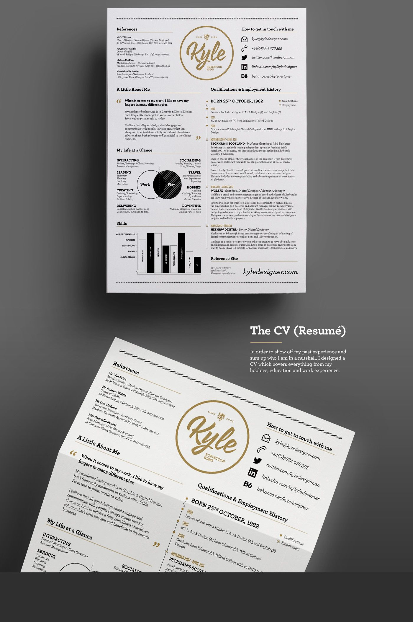 30 Most Visually Creative Resumes You Ve Ever Seen Creative