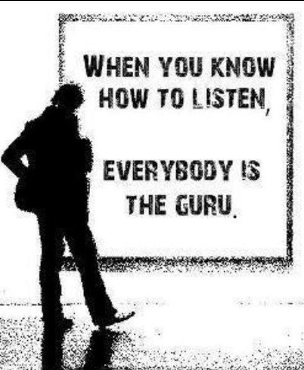 Everybody is the Guru