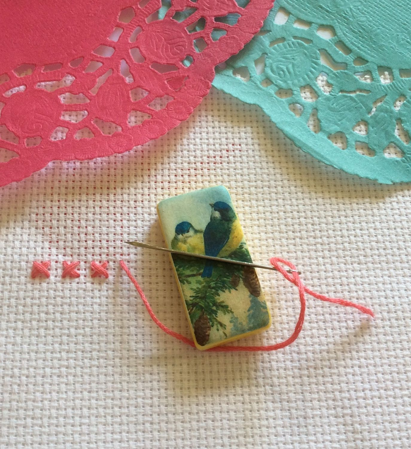 Needle minder bird spring easter magnetic cross stitch easter gift negle Images