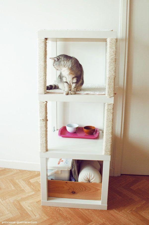 Espectador perjudicar Variedad  15 ideas para hacer una torre, rascador o mueble para gatos | Muebles para  gato, Rascador para gato, Mueble condominio para gato