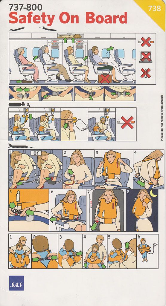 Safety Card Sas B  Front  Flight Safety Cards