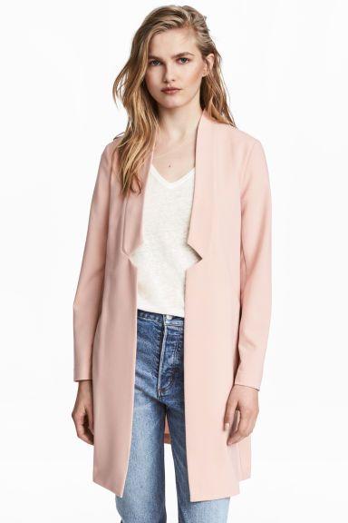 1 Shopping Blazer H amp;m Poudré Rose 2019 Fr Long En Femme 8Fw80rAq
