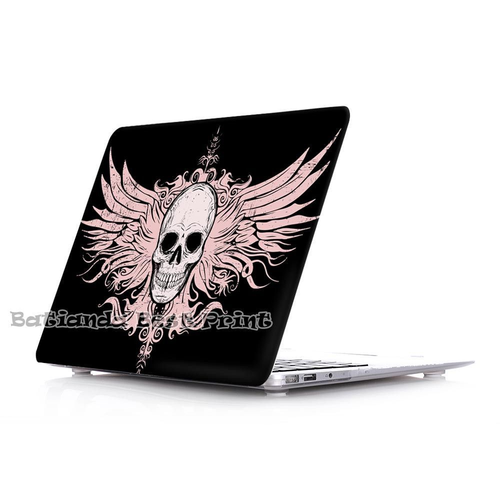 Skull with wings background Pattern Laptop Shell case For Macbook Pro Retina 13 , Air 11.6,Air 13.3 Pro 13.3 Pro 15.4 12inch