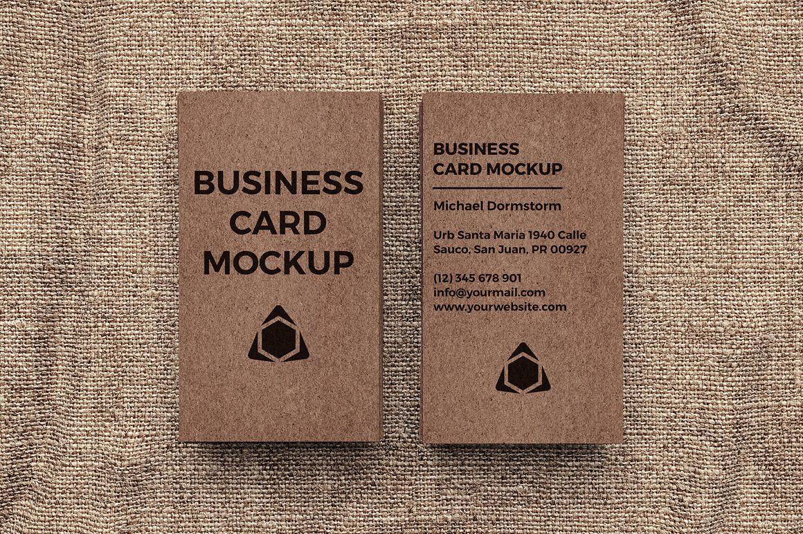 Kraft Paper Business Card Mockup Business Card Mock Up Cards Business Cards