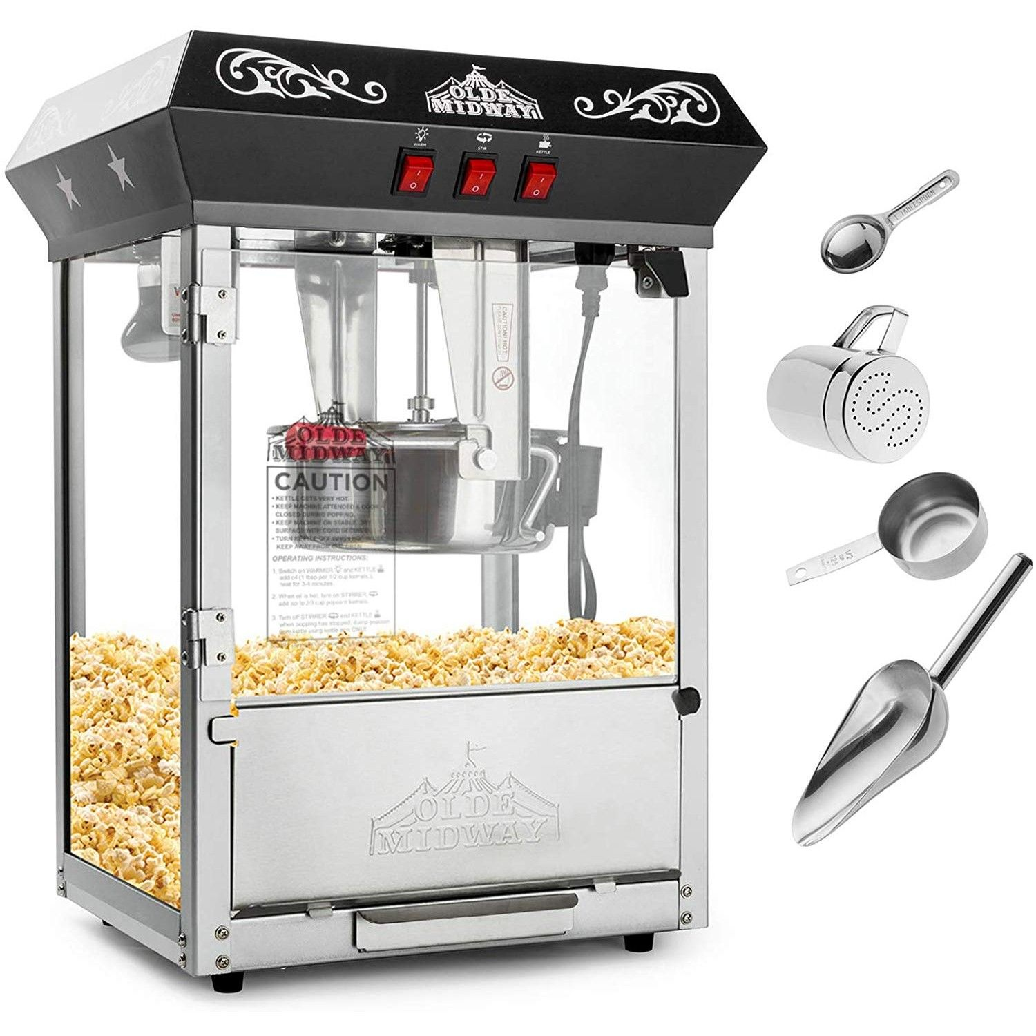 Old School Popcorn Machine Maker Popcorn Best Popcorn Kettle