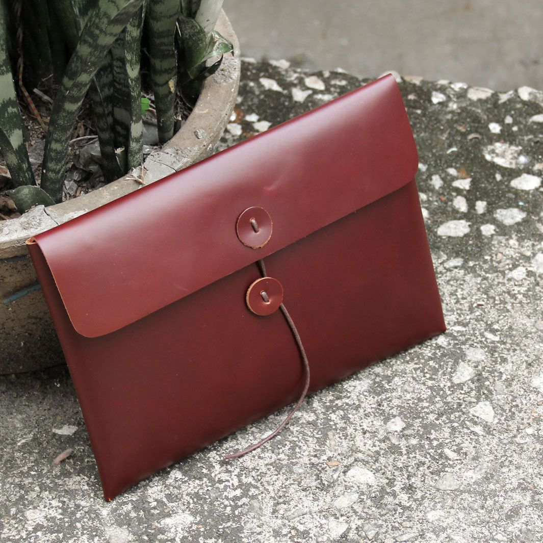 Fashion Envelope Clutch Purse Leather Wallet iPhone Case ipad Sleeve AK03