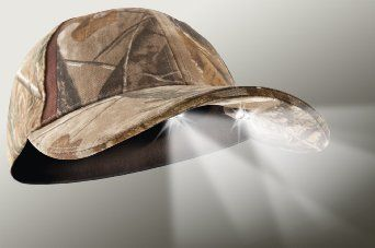Amazon.com: 4 LED Headlamp Realtree Camo Hunting & Fishing Lighted Hat: Clothing